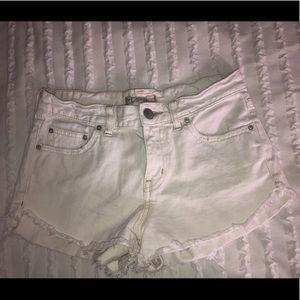 Free People Size 25 White Shorts